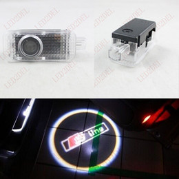 Wholesale Cree Projector Door Logo - Cree Laser LED Door courtesy Projector Logo Ghost Shadow Light For AUDI Audi S-line Sline S4 S6 R8 RS8 S5