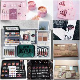 Wholesale Christmas Eyeshadow - Kylie Jenner Christmas Collection Edition Naughty & Nice Eyeshadow Kylie Vacation Edition Collection Bundle Comestic Makeup Kit Big Box Set