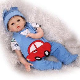 Wholesale Touch Dolls Toys - Wholesale- 22inch reborn dolls toys lifelike soft silicone vinyl girl dolls real gentle touch dolls toys creative children gift bonecas
