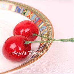 Wholesale Farming Photos - Hot Sale Photo props Artificial Fruit Mini cute cherry Lucky fruit flower home table decoration garden farm