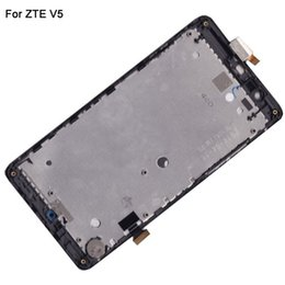 Wholesale V5 Touch Screen Phone - Wholesale-Phone Screen Replacement For ZTE Red Bull V5 U9180 V9180 N9180 LCD Touch Digitizer Screen With Frame Full Assembly Black Color