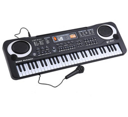 Wholesale Digital Keyboard Piano - Professional Electronic Organ Piano with 61 Keys Music Digital Keyboard Electric With Microphone Musical Instrument gifts