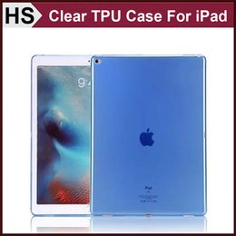 """Wholesale Ipad Air Full Cover - Soft Crystal Clear TPU Case For iPad Pro 12.9"""" iPad Air Mini 4 Transparent Gel Full Wrapped Protect Skin Cover DHL Shipping"""
