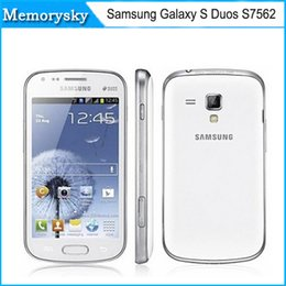 Wholesale S7562 Galaxy S Duos - Original Samsung Galaxy S Duos S7562 cell phone 5MP camera wifi GPS 3g android 4.0 dual sim phone refurbished in stock 002875
