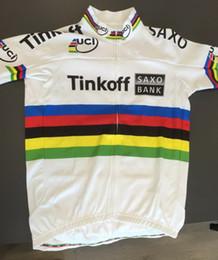 Wholesale Team Saxo Bank Shirt - 2015 TINKOFF SAXO BANK PRO TEAM PETER SAGAN UCI CHAMPION ONLY SHORT SLEEVE ROPA CICLISMO SHIRT CYCLING JERSEY CYCLING WEAR SIZE:XS-4XL