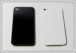 Parte traseira da tampa da porta da caixa de bateria de vidro tampa traseira com difusor de flash para iphone 4 4g 4s melhor qualidade de Fornecedores de caixa de bateria híbrida