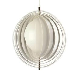 Wholesale Moon Pendant Lamp - Fashion Creative Moon Pendant Lamp Cafe Pendent Lamp Sitting Room Aisle Bedroom Pendant Lamp White Gold Orange Pendant Lamp