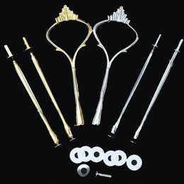 Wholesale Cake Plates Wholesale - Wedding Party 3 Tier Cake Plate Stand Center Handle Rods Fitting Tool Hardware