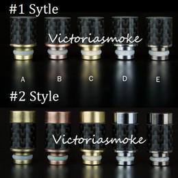 Wholesale Carbon Pen - Multi Styles Carbon Fiber with Stainless steel 510 Drip Tips wide bore Drip Tip for RAD Vivi Nova Protank e cig tanks vaporizer pen