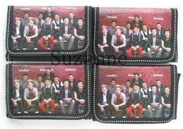 Wholesale Logos One Direction - 2015 24pcs popular one direction logo Coin Purse with iron button shell bag wallet Purses children Gifts