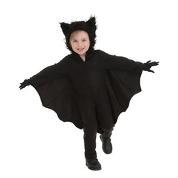 Wholesale Halloween Bat Costume - Halloween, boys jumpsuit, bat costume, neutral children's performance clothing