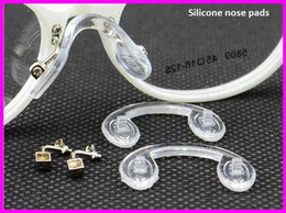 Wholesale Eyeglass Accessories Nose Pads - Wholesale-Nose Pads Glasses Accessories 20 pair  lot eyeglasses PVC Conjoined Screw-in FJ-0