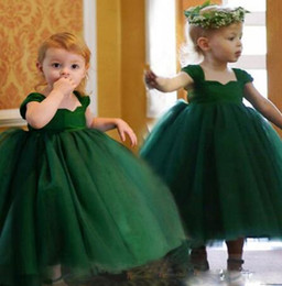 Wholesale 13 Years Kids Clothes - Green Baby Kids Princess Christmas Dresses For Girl Party Costume Children's Girl Clothing Formal Teenagers Prom Gown Size 2-13 Years