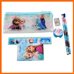 Wholesale Stationery Pencil For Children - Kids learning items Frozen stationery set for Students children stationery Frozen Pencil Cases Frozen Bags Frozen Ruler Pencil(1708001)