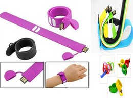 Wholesale Usb Stick Capacity - 100% real capacity Silicone Bracelet Wrist Band 16GB 16GB 8GB 4GB USB 2.0 USB Flash Drive Pen Drive Stick U Disk Pendrives