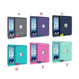 Wholesale waterproof skin ipad air - Defender Shockproof Robot Case Military Extreme Heavy Duty Silicon Cover for ipad 2 3 4 5 6 Air Mini 4