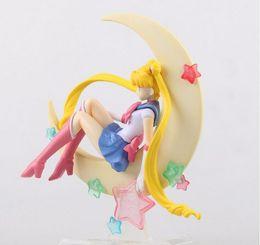 Puppe japan aktion online-Japan Anime Sailor Moon Figur Tsukino Usagi PVC Action Figure Sammeln Modell Puppe 15 CM Anime Figur Brinquedos Freies Verschiffen