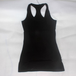 Wholesale White Yoga Outfits - 2017 fashion Sexy Women Yoga Outfits Tank Tops Elastic Spandex Cool Racer Material Clothing Running sports fitness