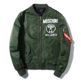 Wholesale Designer Long Jackets - New Fashion Designer Pattern Spring Autumn Jacket Men Brand Coat MA1 AirForce Casual Bomber Jackets Male