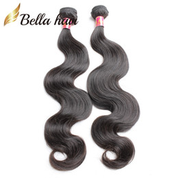 Wholesale Virgin Remy 2pcs - Malaysian Peruvian Indian Brazilian Virgin Hair Extensions Body Wave Human Remy Hair Weaves Natural Color Unprocessed 5A 2pcs lot Bellahair