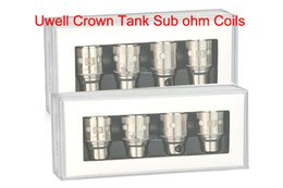 Wholesale Wholesale Cotton Japanese - Uwell Crown Replacement Coil Head 0.25ohm 0.5ohm Dual Coils 0.15ohm Ni200 Coil Japanese Organic Cotton Sub-ohm OCC Tank