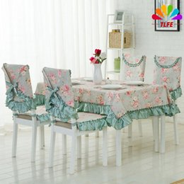 Wholesale Ruffled Table Cloth - TLFE Home & Garden Crochet Table Cloth Chair Cover For Weddings Party Decoration Tablecloth With Ruffles toalha de mesa ZB091