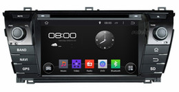 """Wholesale Dvd Navi Car Wifi - 4-Core 1024*600 Android 4.4 HD 2 din 7"""" Car Radio Car DVD Player for Toyota Corolla 2014 With GPS Navi 3G WIFI Bluetooth IPOD TV USB AUX IN"""