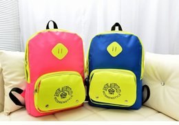 Wholesale School Bags Handbags - Promotional explosion models hit the color leisure backpack school bag casual handbag,school bag,casual bag,Outdoor package