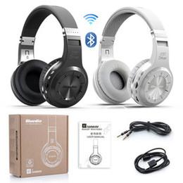 Wholesale Ear Headphone Bluetooth Radio Mp3 - Bluedio H+ Series Bluetooth 4.1 wireless Headset Headband Headphones Built-in Mic Support TF card FM Radio Hands-Free MP3 Player Super Bass