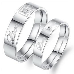 Edelstahl-schmuck-sets koreanischen online-OPK Edelstahl Paar Ringe Korean Schmuckschloss / key sein und ihr Versprechen Ringsätze 316L Liebhaber Ringe