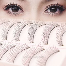 Wholesale taiwan false eyelashes wholesale - Wholesale- Taiwan Hand Made False Eyelash Cotton Stalk Natural Long Eyelashes Cosmetic Makeup Beauty Accessories maquiagem