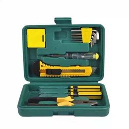 Wholesale Car Spares - Wholesale-11 pieces of a set car repair kit car emergency kit combination package one spare tool