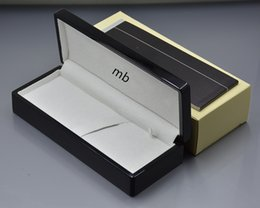 Wholesale Gift Boxes Pens - luxury MB Brand wood pen Box with Manual book Stationery gift Pen box for mb pen packing