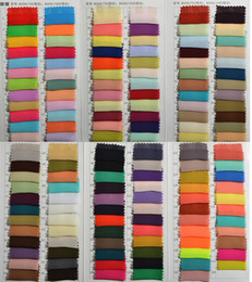 Wholesale Fabric Formal Dresses - Chiffon Color Samples New Fabric Swatches For Formal Party Dresses Vestidos De Madrinha Dress Fabric 100cm *150cm