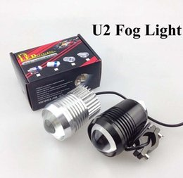 Wholesale Universal Spot Light - Super Lighting 30W CREE T6 U2 Motorcycle LED Spot Fog Light Waterproof Black Silver Motorbike Headlight Flash fogLamp Front light
