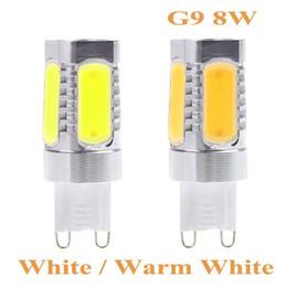 Wholesale G9 8w Led Bulb - High Quality Warm White Light and White Light Energy-saving G9 Socket 8W COB LED Light Bulb Lamp