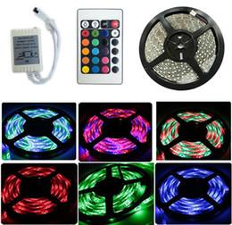 5M 3528 RVB LED bande de lumière décoration extérieure étanche IP65 Lighitng 60LEDs / M 300LEDs DC12V + 24 clé télécommande IR ? partir de fabricateur