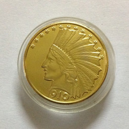 Wholesale p ten - HOT SELLING $10 3PCS (1910-P-D-S) Real 24K gold plating Indian Head Ten Dollars Or Eagle Dollar Gold   FREE SHIPPING