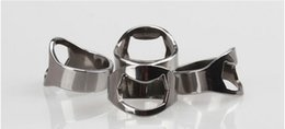 via tools Coupons - 100pcs lot Beer Bar Tool Stainless Steel Finger Ring Bottle Opener free shipping via fast shipment