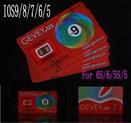 Wholesale Gevey 4g - Newest E-paper Gevey r Sim 10 Unlock Card Perfect unlock 4g 3g ios9 ios 8 7.X 9 for iphone 6S plus 6 5s 6plus 4s AT&T Sprint sim WCDMA CDMA