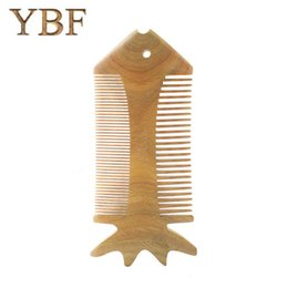 Wholesale Dresses Girlfriends - YBF Grooming Trimmer Double Sided Green Sandalwood Cute FISH Combs Irish Dance Dressing Tools Brushes Girlfriend Gift