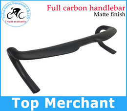 Wholesale Carbon Road Bike Stems - Only 240g Full carbon handlebar Road bike bar without stem full black color bicycle handlebar accessories free shipping