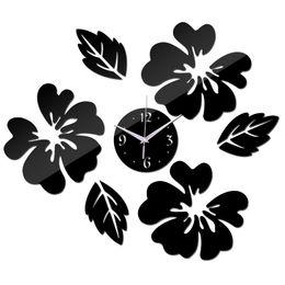 Orologio da parete decorativo grande online-Orologio al quarzo 2016 horloge orologio da parete fai da te design moderno vintage grandi orologi decorativi reloj pared living room 3d wall clock