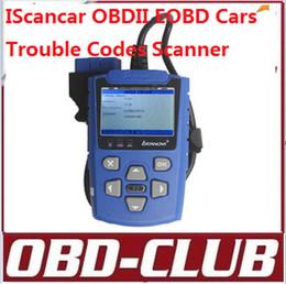 Wholesale Obd2 Trouble Codes Cars - 2015 Newest IScancar OBDII obd2 EOBD Cars Trouble Code Scanner free shipping