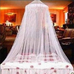 Wholesale Royal Mosquito Nets - Elegant Royal Palace Round Lace Bed Canopy Mosquito Net White