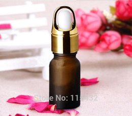 Wholesale Dropper Frosted Glass - Thick 10ml Frosted Amber Glass Bottles for Essential Oils with Glass Eye Dropper Wholesale by DHL Free Shipping