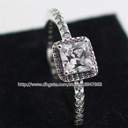 100% S925 Sterling Silber European Pandora Style Schmuck zeitlose Eleganz Ring mit klaren Cz Fashion Charm Ring von Fabrikanten