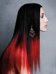 28 haarverlängerung nagelspitze online-50G 100G 150G 200G natürliche Keratin-Kapsel prebonded U / Nagelspitze Haarverlängerungen Two Tone Ombre brasilianisches remy Haar T1B / Rot