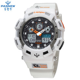 Wholesale Digital Watches For Sale - Wholesale-HOT sale Pasnew PLG-1002AD diving watch waterproof 100m Countdown swimming Stopwatch digital watch sport watches for men w076