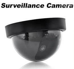 Wholesale Ccd Wholesale - HOT Fake Dummy Dome Surveillance CAM Dummy Indoor Security CCTV Camera flashing for Home Camera LED